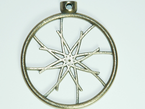 Pocket Star Necklace Pendant in Stainless Steel