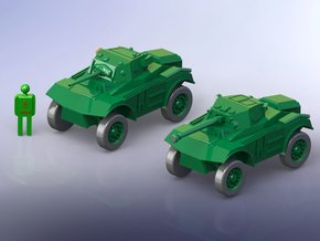 British Coventry Armoured Car Mk I & II 1/144 in Smooth Fine Detail Plastic