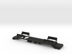 (Test) TARS O Scale 'Convexa' Chassis in Black Natural Versatile Plastic