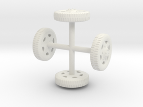 DIVCO-Wheels-Ribbed-1-to-48 in White Natural Versatile Plastic
