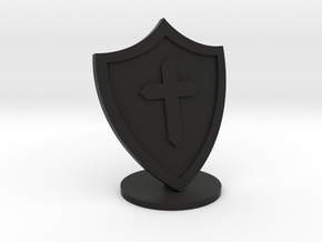 Shield in Black Natural Versatile Plastic