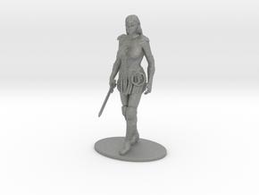 Xena Miniature in Gray PA12: 28mm