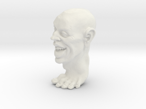Foot Guy 75mm  in White Natural Versatile Plastic
