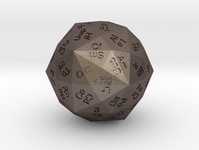Periodic Die in Polished Bronzed Silver Steel
