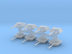 Sdkfz 234-1 turret (x8) 1/200 in Smooth Fine Detail Plastic
