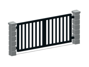 Rod Iron Vehicle Gate-2a in Smooth Fine Detail Plastic: 1:87 - HO
