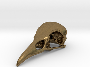 Bird Skull - Micro in Natural Bronze