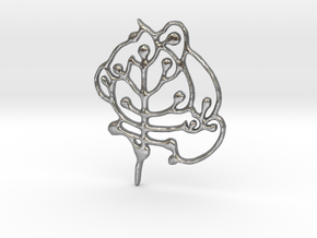 Neolithic 'Tree Of Life' Pendant in Natural Silver