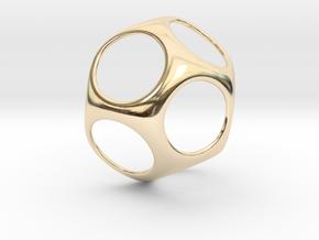 Modern Geometric Pendant in 14K Yellow Gold