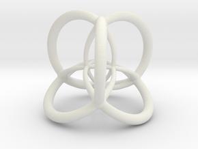 4d Hypersphere Bead - Multidimensional Scientific  in White Natural Versatile Plastic