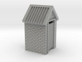 HO Scale Brick Outdoor Toilet Dunny 1:87 in Metallic Plastic