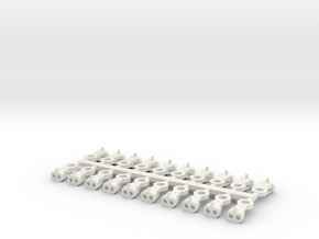 Magno-Electro Couplings for Liliput (Small) x20 in White Natural Versatile Plastic