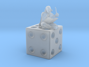 Gygax on a Die figurine in Smoothest Fine Detail Plastic: 28mm