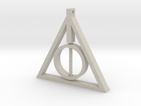 Deathly Hallows Rotating Pendant in Natural Sandstone