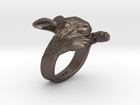 Rabbit Hug Ring in Stainless Steel