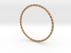 Twisted Bangle in Polished Bronze: Extra Small