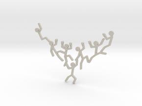 StickMan Necklace Pendant in Natural Sandstone