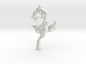 Glass Rose (Small) in White Natural Versatile Plastic
