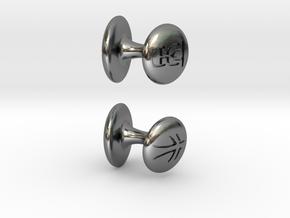 Xiao Zhuan Cufflinks in Polished Silver