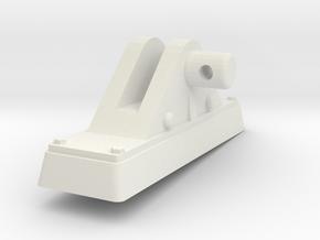TorpedoTubeElcoPORT16thFrontSupport in White Natural Versatile Plastic