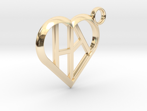 Heart of love keychain [customizable] in 14K Yellow Gold