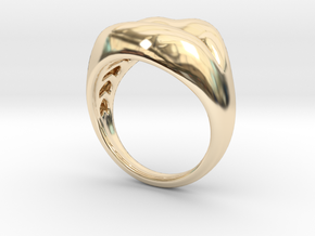 lips size 5 in 14K Yellow Gold