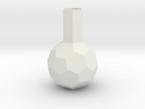 lawal 123 mm truncated icosahedron basics  in White Natural Versatile Plastic