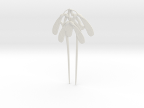 Gaillard Maple Seed Hair Pin in White Natural Versatile Plastic
