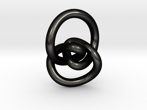 Torus Knot Type 2 Pendant in Matte Black Steel