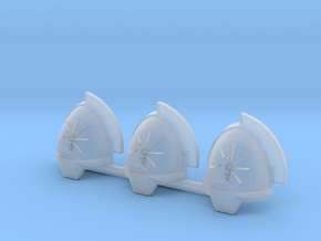 Space Vikings Gravus 6th brotherhood pads #3 R in Smoothest Fine Detail Plastic
