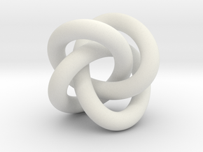 Torus Knot Type 3 Pendant in White Natural Versatile Plastic