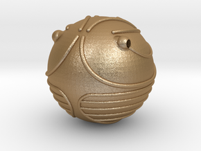 Golden Snitch (Lifesize) in Matte Gold Steel