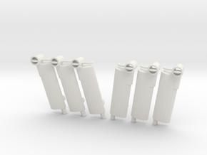 1/16 USN Pt Boat 109 Mufflers SET in White Natural Versatile Plastic
