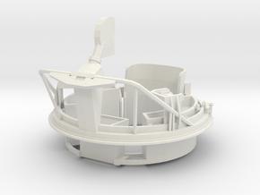 1/16 USN PT Boat 109 Fore Turret MG Mount in White Natural Versatile Plastic