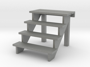 1:48 scale 4 step stair in Gray PA12