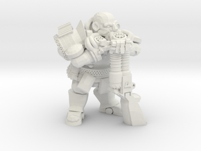 Space Dwarf Musketeer in White Natural Versatile Plastic