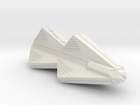 3788 Scale Tholian Improved Police War Destroyer in White Natural Versatile Plastic