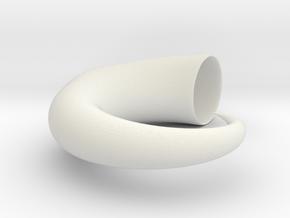 Horn Geometric Herb 3D Printing Planter  in White Natural Versatile Plastic