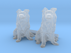 22mm Border Collies in Smooth Fine Detail Plastic