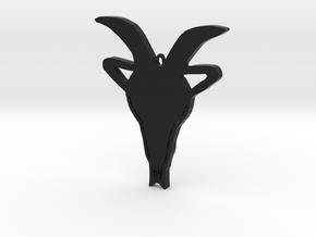Capricorn zodiac sign pendant in Black Premium Versatile Plastic