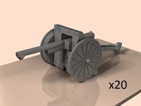 1/220 75mm French cannon m1897 in Smoothest Fine Detail Plastic
