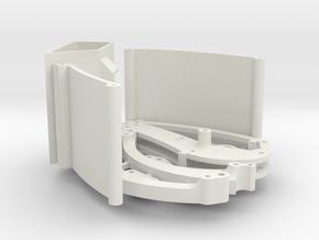 V4 Stingray 6in Tail in White Natural Versatile Plastic