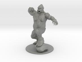 Yeti Miniature in Gray PA12: 28mm