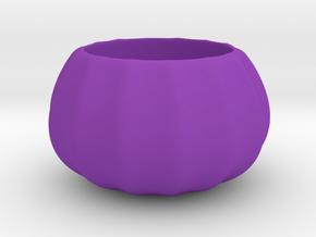 Cute Geometric Succulent 3D Printing Planter  in Purple Processed Versatile Plastic