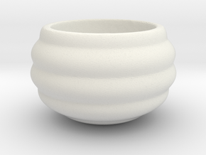 Cute Barrel Geometric Succulent 3D Printing Plante in White Natural Versatile Plastic