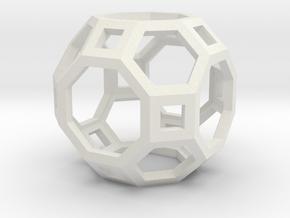 Truncated Cuboctahedron in White Natural Versatile Plastic