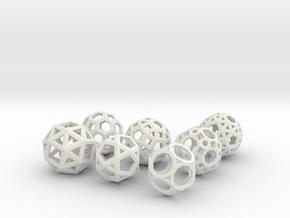 Archimedean Solids Part 2 in White Natural Versatile Plastic