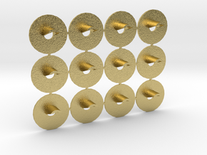 Proto N Scale (1:160) GRS Type D 1 Light Signal in Natural Brass