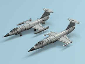 1/350 F-104 Starfighter 2 Pack in Smooth Fine Detail Plastic