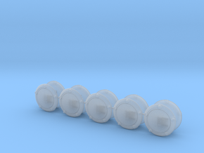 10xSpace Knights V7/10 Domed Round Shield 02 Right in Smooth Fine Detail Plastic